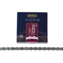 Cadena KMC X-8 99 116 Pasos Index 8V Cromada