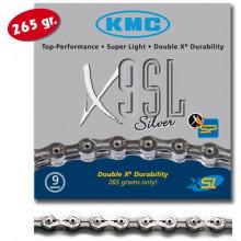 Cadena KMC X-9 SL 116 Pasos Index 9V Cromada