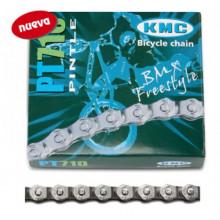 Cadena KMC PT710 Media Malla 110 Pasos Cromada 1V