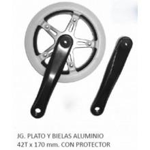Plato y biela 42t aluminio