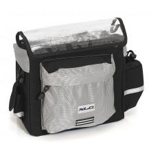 XLC bolsa de manillar MTS antracita/pl. 28x15x23cm