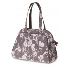 Bolsa de hombros Elegance-Carry All-Bag gris pardo, Volumen 17 l.