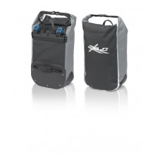 XLC bolsa Lowrider BA-W17 negro/gris, impermeable, por unidad