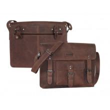 Bolsa Business Haberland Leder Cuero marrón oscuro
