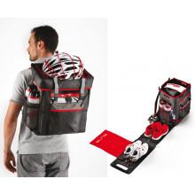 Bolsa Elite Tri Box negro/rojo, para Triathlon/Duathlon